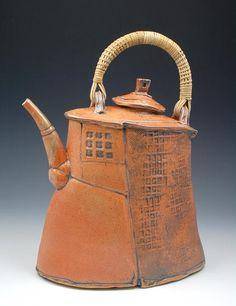 Glenn Dair - Shino Teapot With Reed Handle