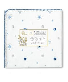 Look what I found on #zulily! 42'' x 42'' True Blue Disney's Small World Sun Ultimate Receiving Blanket® #zulilyfinds