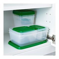 IKEA - PRUTA, Food container, set of 17, Empty food containers can be stacked inside one another to save space.BPA free.
