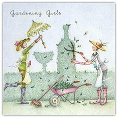 Gardening Girls Berni Parker Designs Card  £2.75 - FREE Postage!