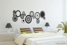 Adesivo Decorativo Círculos Abstratos Diversos