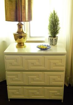I forgot about these!    O'verlays product on ikea rast drawers--- could definitely do with some of my ikea stuff!!