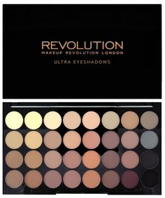 Makeup Revolution - Lidschatten Palette - Ultra 32 Eyeshadow Palette - Flawless Matte - Kosmetik & Falsche Wimpern make up palette Lidschattenpalette - Ultra 32 - Flawless Matte Makeup Revolution Palette, Makeup Revolution London, Revolution Eyeshadow, Make Up Palette, Eye Palette, Naked Palette, Bronze Palette, Matte Eyeshadow Palette, Shimmer Eyeshadow