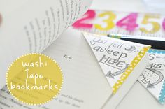 Washi tape bookmarks. Great for summer reading or a simple craft project for kids #washitape