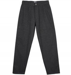 Edwin Labour Pant in Grey Marl. Cut from Italian virgin wool, the Edwin Labour pant references the design of vintage midcentury workwear trousers, with angular patch pockets, triple stitched construction and an elasticated waistband. Workwear Trousers, Work Wear, Pajama Pants, Sweatpants, Grey, Design, Fashion, Work Trousers, Outfit Work