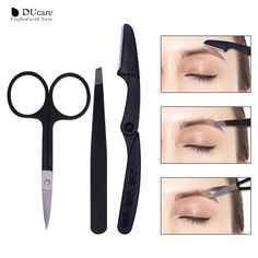 Scissors Trend Mark 5 Beauty Girl Lady Women Scissor Comb Eyelash Tool Eyebrow Shear Groom Eye Brow Trimmer Cosmetic Makeup Hair Trim