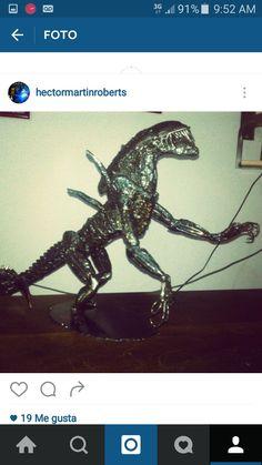 Alien metal sculpture