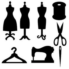 mom sewing silhouette - Google Search