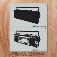 Stencil1 Boombox Two Layer Stencil S1_2L_15 on Etsy, $14.57 CAD