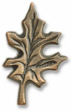 Cabinet Hardware - Buck Snort 142 Oak Leaf Drawer Pull | KitchenSource.com #kitchensource #pinterest #followerfind