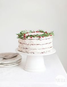Gluten-free Vegan Gingerbread Christmas Wreath Cake Recipe