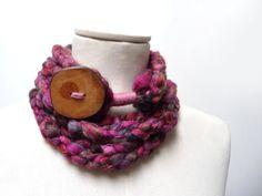 Loop Infinity Scarf Necklace Crochet Scarflette by ixela on Etsy