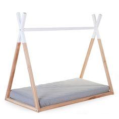 Tipi-Hausbett für 70x140cm Matratze natur/weiß H 123cm