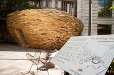 The Reading Nest by Mark Reigelman is a site specific installation outside of the Cleveland Public Library
