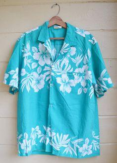 Vintage Mens Hawaiian Shirt Alhoa Hawaiian by founditinatlanta, $20.00