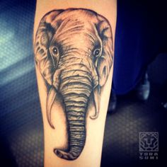 elephant face tattoo | faces