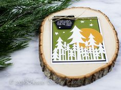 Beautiful stamped card created by Heather Hoffman with the Taller Than Trees and Hexagon dies from Technique Tuesday.