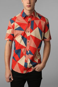 Some might think this print is a bit much with all the bold-colored triangles. I'm not one of those people. (by Shirts For All My Friends)