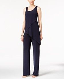 Alfani Knit Crossover Top & Wide-Leg Trousers, Only at Macy's