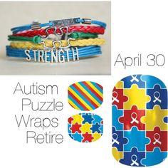 Autism Puzzle Wraps Retire April 30  Get yours now Sammiesjammies.jamberrynails.net