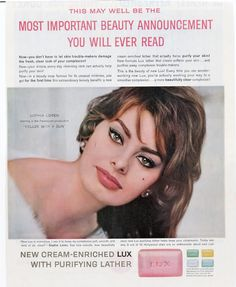 Honestly?  I think Sophia Loren is still hot...aaand we use Lux soap here in Argentina!