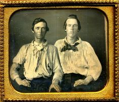 Two Sailors Young Rough Guys Male Daguerreotype