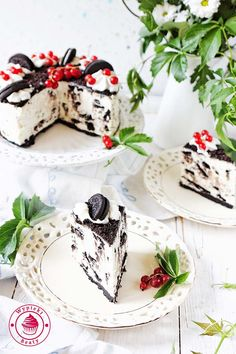 sernik oreo na zimno - no bake oreo cheesecake Sweets Cake, Cupcake Cakes, No Bake Oreo Cheesecake, Just Cakes, Polish Recipes, Vegan Cake, Pavlova, Cake Cookies, Cookie Recipes