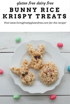 Simple and delicious rice krispy treats made with coconut oil taste better than the original recipe. They are simple to make and are gluten free and dairy free. Gluten Free Snacks, Gluten Free Cakes, Dairy Free Recipes, Rice Crispy Treats, Krispie Treats, Rice Krispies, Rice Recipes For Dinner, Snack Recipes, Diet Recipes