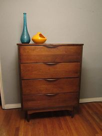 Vintage Mid Century High Boy Dresser Tall 160