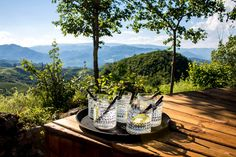 Gin O'clock. Raven's Nest, the hidden village in Transylvania.  Treat yourself to a nice drink with a scenic view #guesthouses #rurallife #transylvania #ravenhiddenvillage #drinkwithaview #style #gin #drink