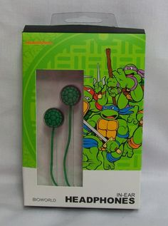 TMNT Green Shell Earbuds In-Ear Headphones *New Teenage Mutant Ninja Turtles