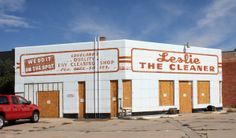 Leslie the Cleaner - Service station converted to dry cleaner & now defunct. Loveland, Colorado