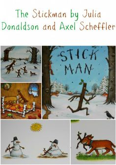 We like to read: Stick Man - Julia Donaldson - Mummy Alarm Children's Book Illustration, Book Illustrations, Axel Scheffler, Crafts For Kids, Arts And Crafts, Reading Library, Stick Man, Book Themes, Nursery Themes