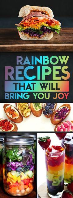 Les 16 recettes colorées qui vont vous faire craquer #Rainbow #recipes #Joy #Fruits