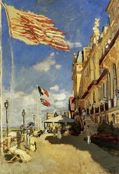 L'Hôtel des Roches noires à Trouville (C Monet - W 155) https://hemmahoshilde.wordpress.com/2015/04/07/monet-wonderful-waterscapes/ <---You're welcome to read more about this hotel and other places painted by Monet, on my art blog :).