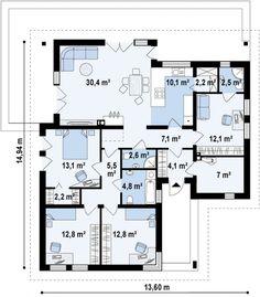 Z204 bG Версия проекта Z204 без гаража. | Проекты и строительсто домов под ключ от компании Ульра-Эс | Ультра Эс