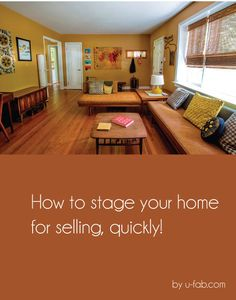 How to stage your home for selling quickly. Great tips here! #staging #realestate