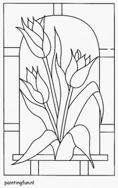 tulipánu vitráže