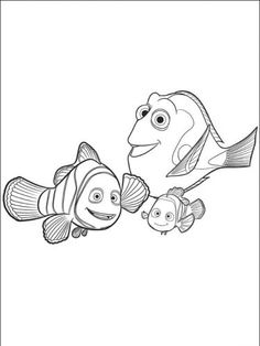 9 Meilleures Images Du Tableau Nemo Coloriages Le Monde De Nemo