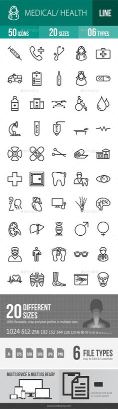 Medical Line Icons #design Buy Now: http://graphicriver.net/item/medical-line-icons/12842993?ref=ksioks