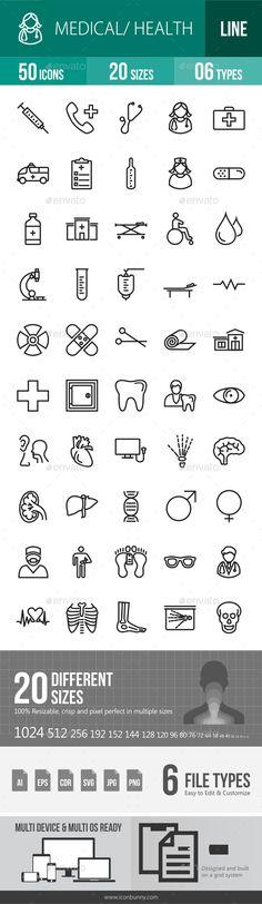 Medical Line Icons #design Buy Now: http://graphicriver.net/item/medical-line-icons/12842993?ref=ksioks