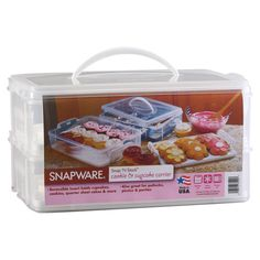 {Snapware Double Layer Cupcake Keeper} I have something like this, but a girl can never have too many cupcake keepers! ;)