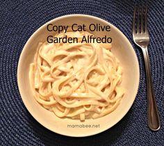 Copy Cat Olive Garden Alfredo #recipe