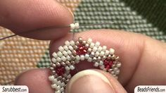 Earring tutorial: how to make a Rivoli post earring using seed beads | Beading tutorial