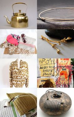 Golden fashion by piscesandfishes on Etsy--Pinned with TreasuryPin.com