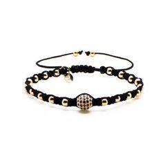 Chevalier Project bracelet Gold CZ Diamonds macrame