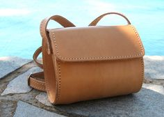 Small leather barrel purse by BlueDrop on Etsy, Leather Clutch, Leather Purses, Leather Bags, Cowhide Leather, Tan Leather, Crossbody Shoulder Bag, Leather Shoulder Bag, Vegetable Tanned Leather, Leather Craft