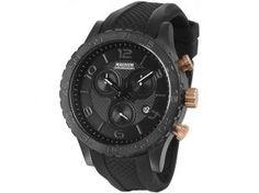 Relógio Masculino Magnum MA33504P - Analógico Resistente à Água Cronógrafo Calendário