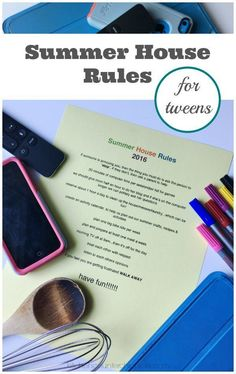 Summer House Rules for Tweens - Summer house rules are all about setting expectations and creating a set of guidelines for summer vacation. Sit down with your tween and build a set of rules that everyone agrees on. And don't forget to have fun. | Summer with Tweens | Parenting a Tween | #parentingtipsforteenagers