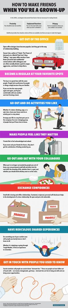 How to Make Friends Infographic
